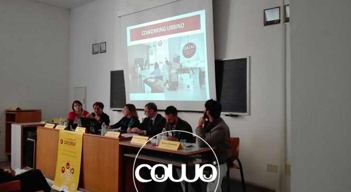 Lo staffo di Coworking Urbino al Carreer Day