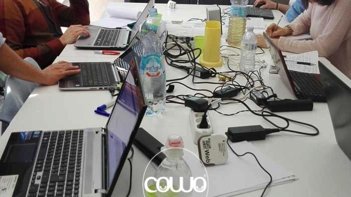 Coworker al lavoro al Cowo di Urbino