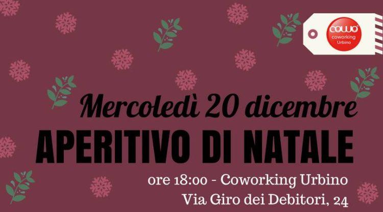 Aperitivo di Natale al Coworking Urbino